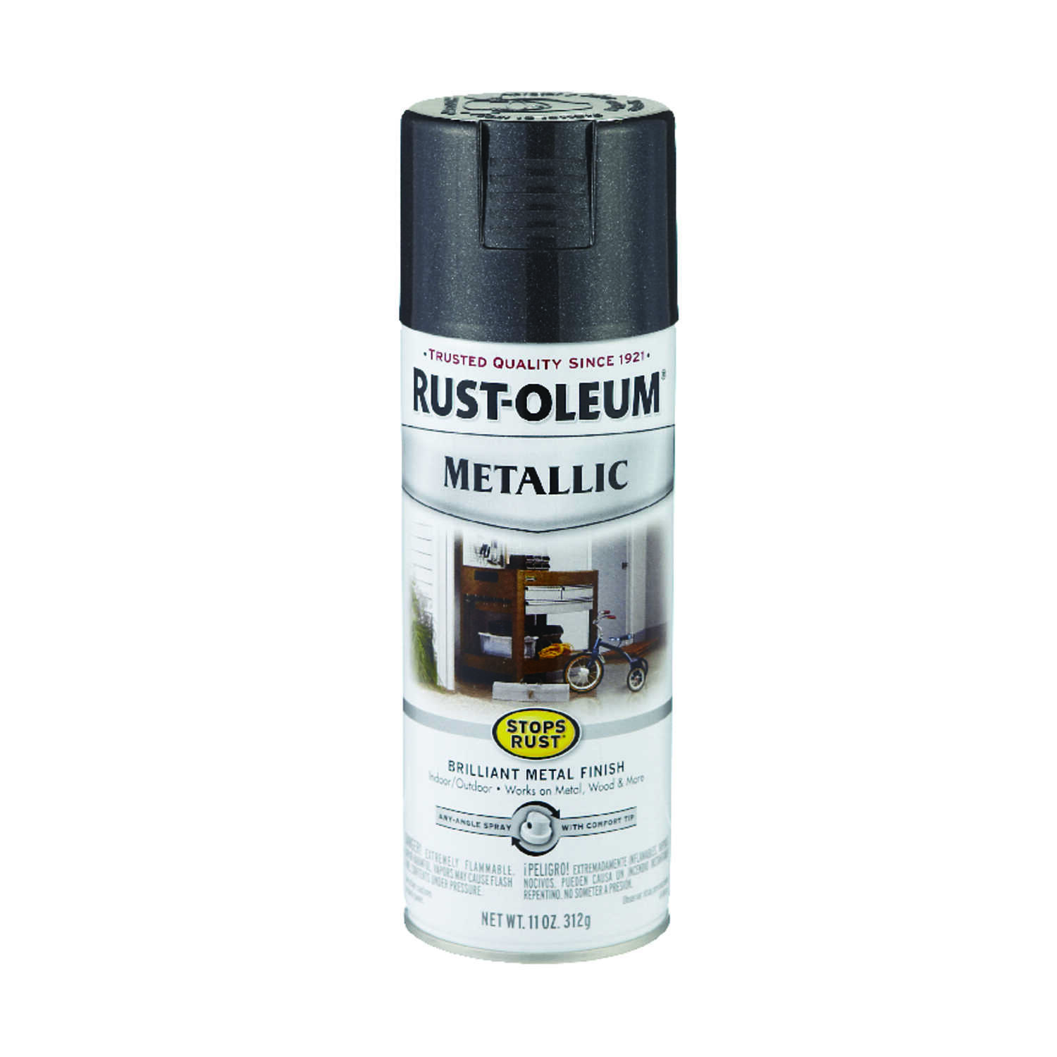 Rust-Oleum  Stops Rust  Black Night  11 oz. Spray Paint