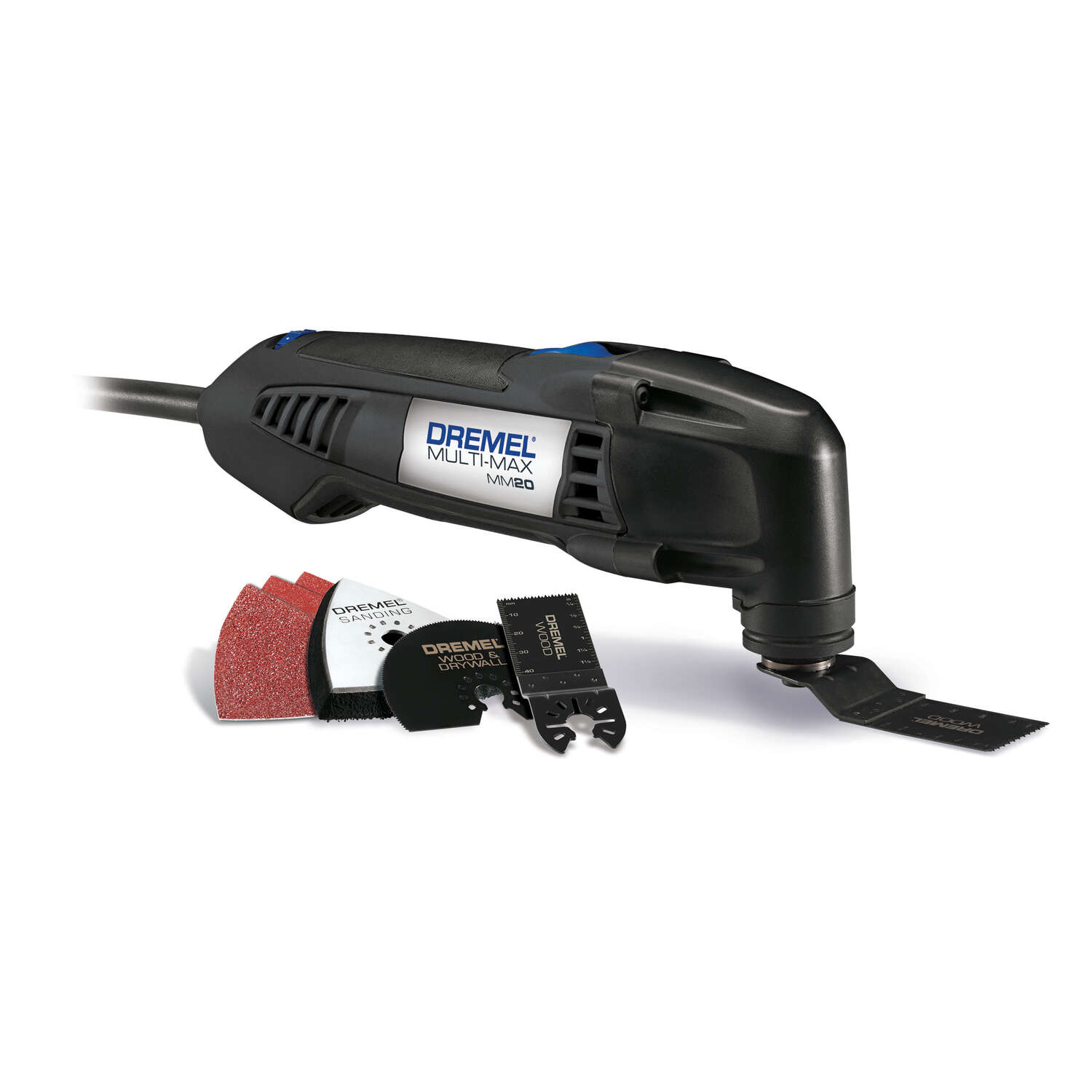 Dremel  Multi-Max  2.3 amps 120 volt Corded  Oscillating Tool  Kit 21000 opm Gray  7 pc.
