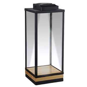Paradise Lighting  LED  Glass/Metal  Solar Lantern  Black