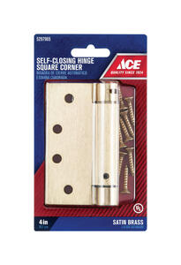 Ace  4 in. L Brass  Residential Hinge  1 pk
