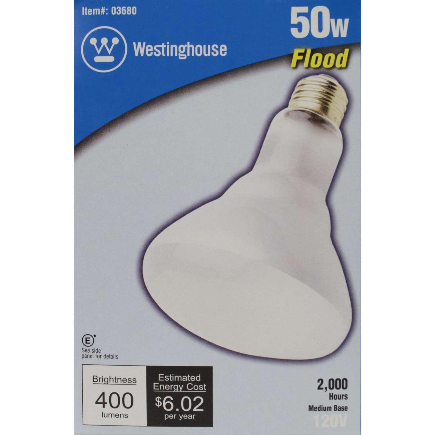 Westinghouse  50 watts BR30  Incandescent Bulb  400 lumens White  1 pk Floodlight