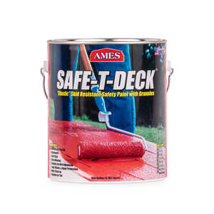 Ames Research Laboratories Inc.  Safe-T-Deck  Semi-Gloss  White  Deep-Tone Base  Waterproof Coating