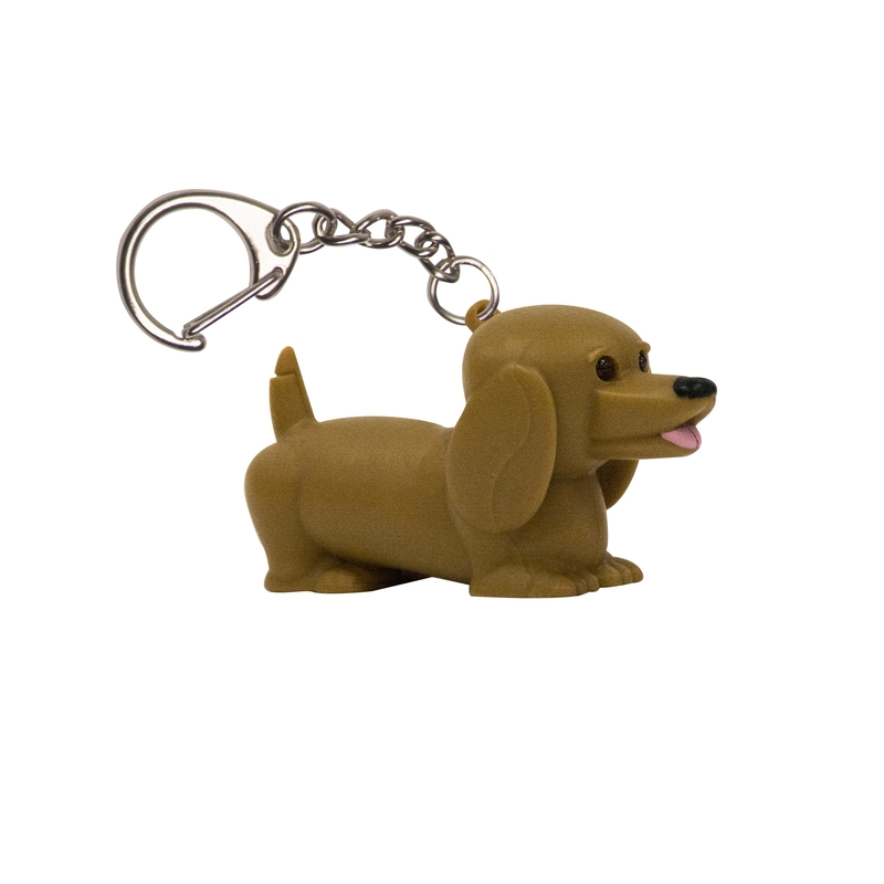 KeyGear  Brown  Dachshund  Key Chain with LED Light