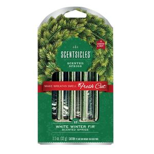 Scentsicles  Wreath  Winter Fir Scent Fragrance Sticks  1.1 oz. Solid
