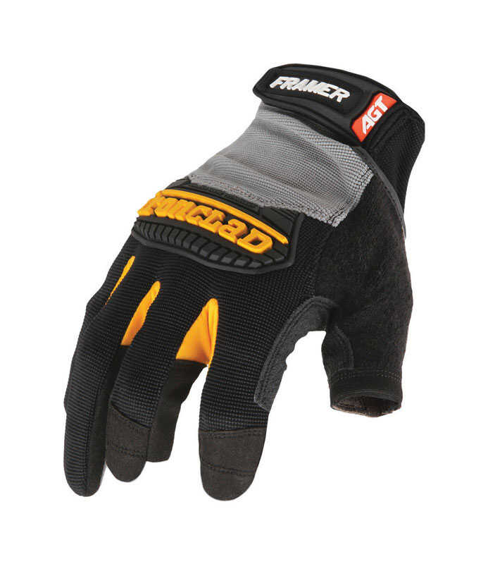 Ironclad  Synthetic Leather  Framer Gloves  Black and Gray  Large  1