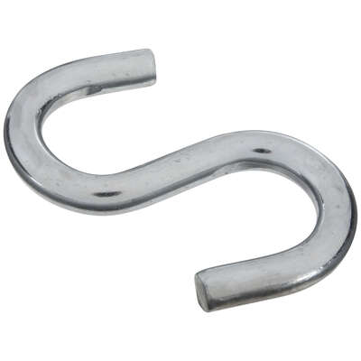 National Hardware  Zinc-Plated  Silver  Steel  3-1/2 in. L Heavy Open S-Hook  180 lb. 1 pk