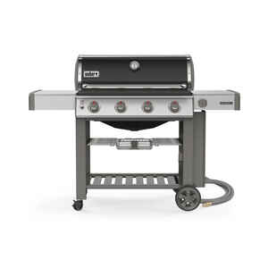 Weber  Genesis II E-410  Natural Gas  Freestanding  Grill  4 burners Black