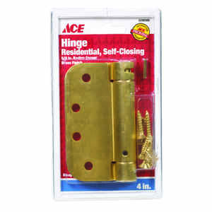 Ace  4 in. L Satin Brass  Brass  Residential Hinge  1 pk