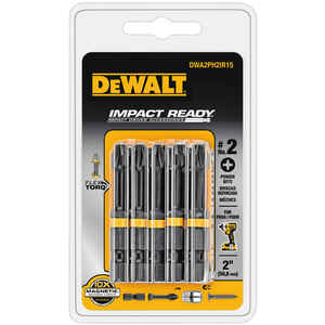 DeWalt  Impact Ready  2 in. L x #2 in.  Black Oxide  15 pc. Screwdriver Bit  1/4 in. Phillips