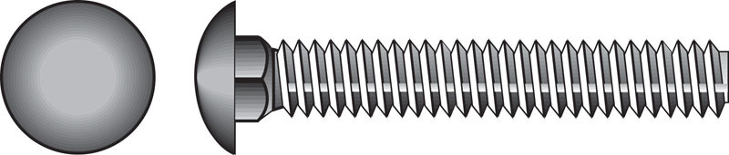HILLMAN  3/8  Dia. x 1 in. L Zinc-Plated  Steel  Carriage Bolt  100 pk