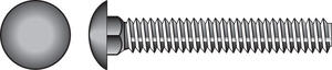Hillman  3/8 in. Dia. x 1 in. L Zinc-Plated  Steel  Carriage Bolt  100 pk