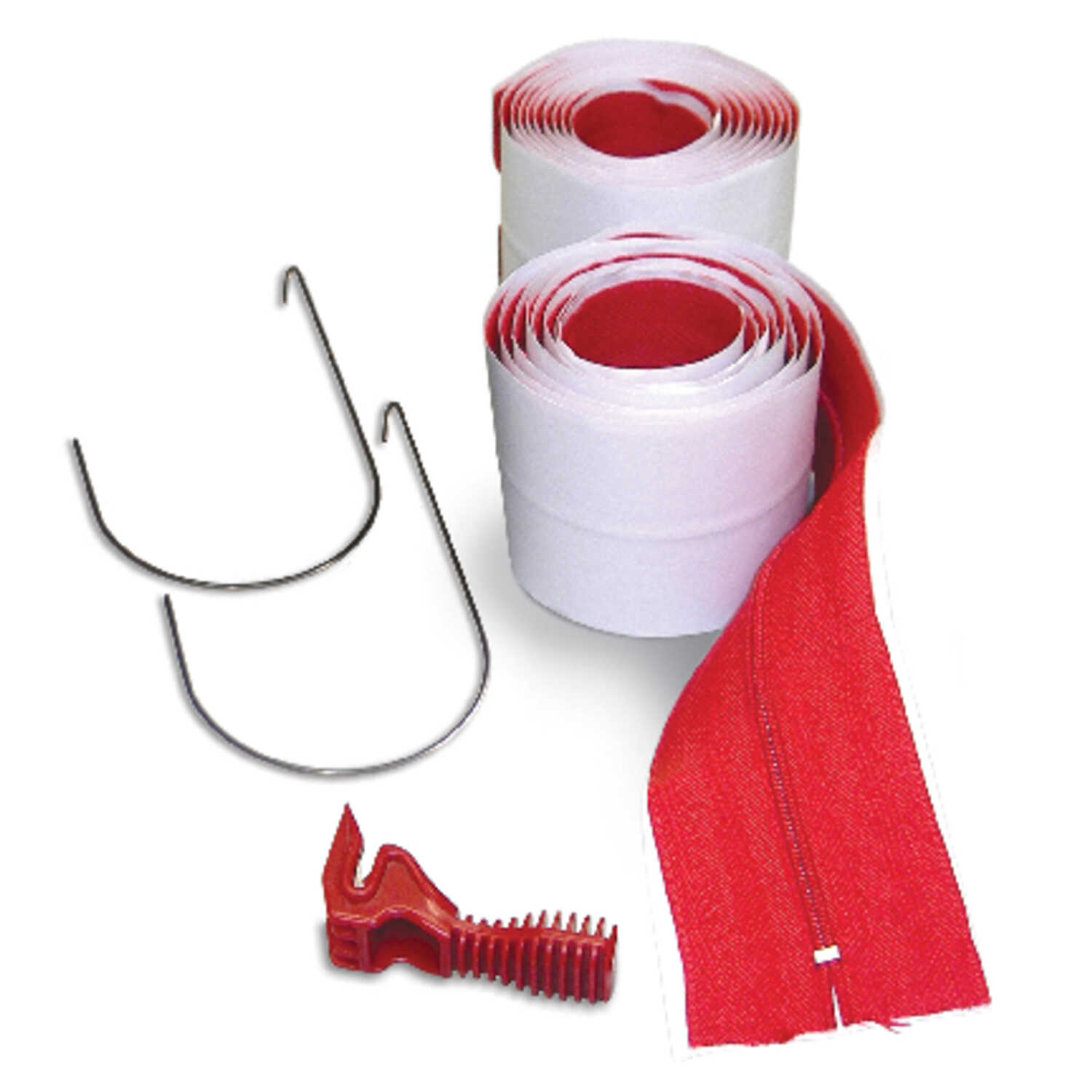 Zipwall  Heavy Weight  Cloth  Adhesive Zippers  3 in. W x 7 ft. L Clear/Red