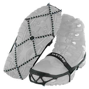 Yaktrax  PRO  Unisex  Rubber/Steel  Traction Device  W 6.5-10/M 5-8.5  Waterproof 1 pair N/A in. Bla