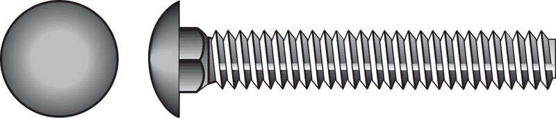 Hillman  3/8 in. Dia. x 1 in. L Hot Dipped Galvanized  Steel  Carriage Bolt  100 pk