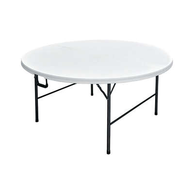 Living Accents  29-1/4  H x 60  W x 60  L Round  Folding Table