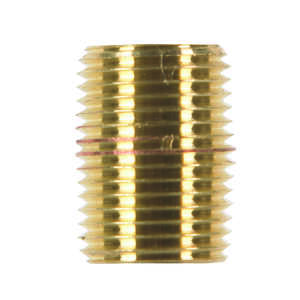 JMF  1/2 in. MPT   x 1/2 in. Dia. MPT  Nipple  Red Brass  Pipe Nipple