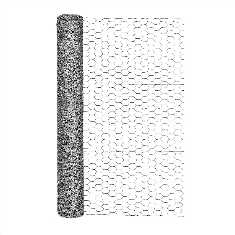 garden zone 36 in  h x 50 ft  l 20 ga  silver poultry netting