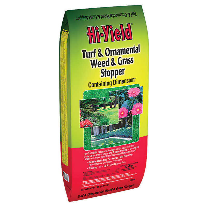 Hi-Yield  Turf and Ornamental  Granules  Organic Crabgrass Preventer  12