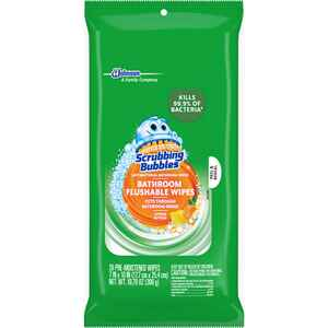 Scrubbing Bubbles  Citrus Scent Bathroom Cleaner  10.79 oz. Wipes