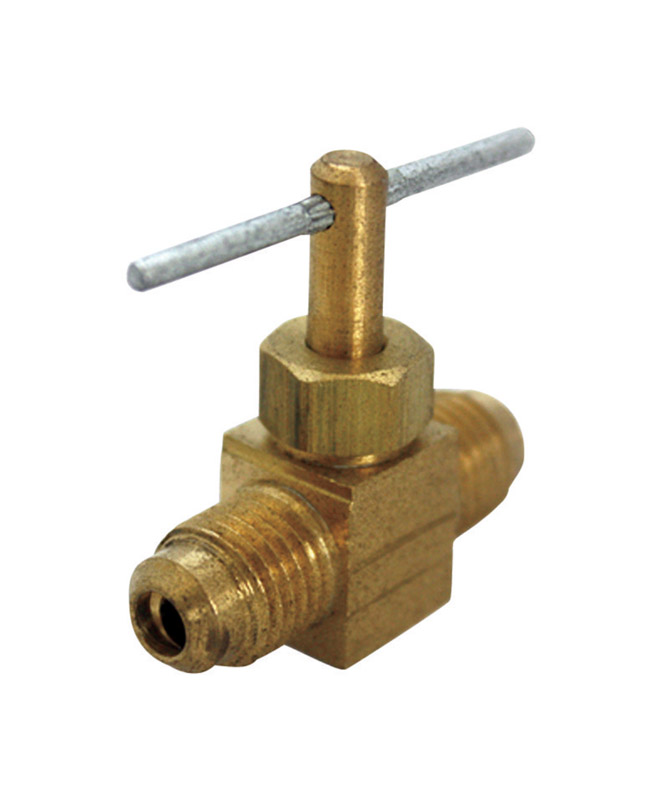 Ace  1/4 in. Dia. x 1/4 in. Dia. Brass  Straight  Flare Needle Valve