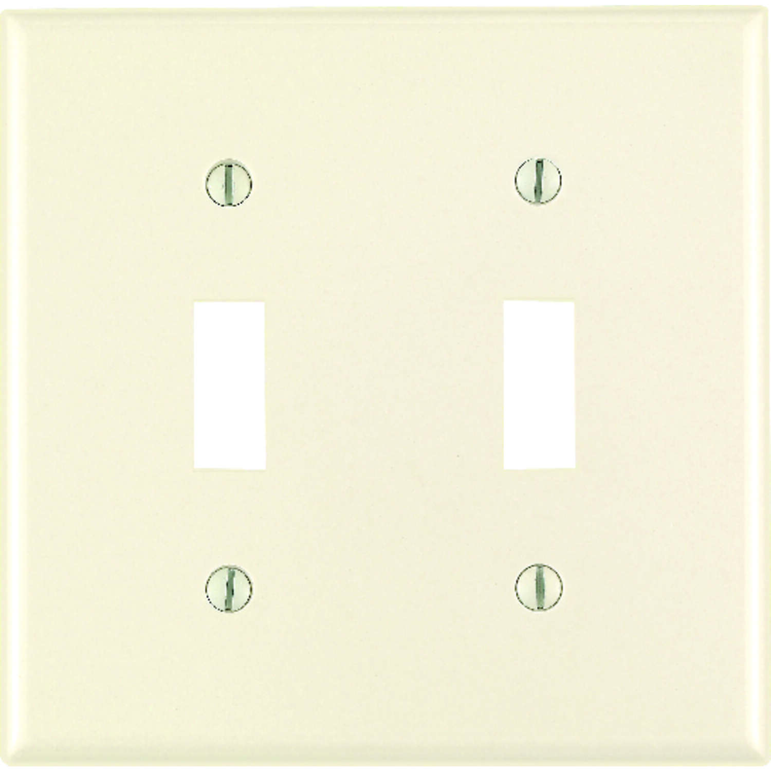 Leviton  Almond  2 gang Thermoset Plastic  Toggle  Wall Plate  1 pk