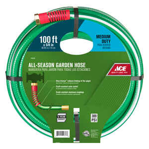 Ace  All-Season  5/8 in. Dia. Green  Medium-Duty  Hose