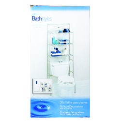 Zenith  Bathroom Spacesaver  64.7 in. H x 23.25 in. W x 10.25 in. L Nickel  Steel