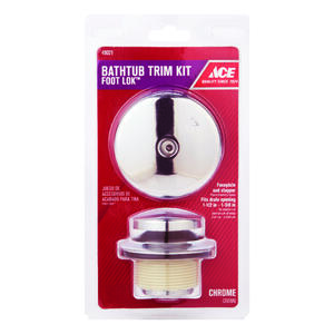 Ace  Classic  1-Handle  Chrome Plated  Foot Lok Stop Bath Drain Trim Kit