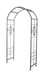 Panacea 90 in. H Black Steel Arbor