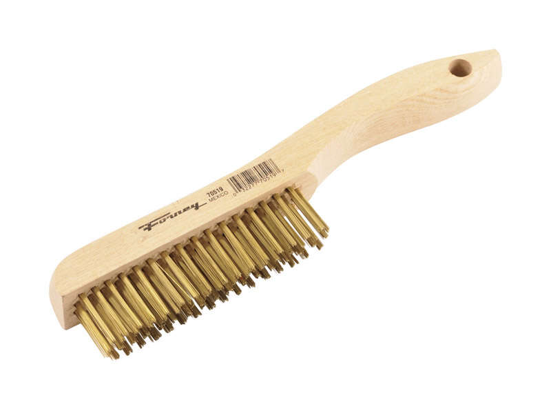 Forney 9.5 in. L x 10.25 in. W Wire Brush Wood 1 pc.