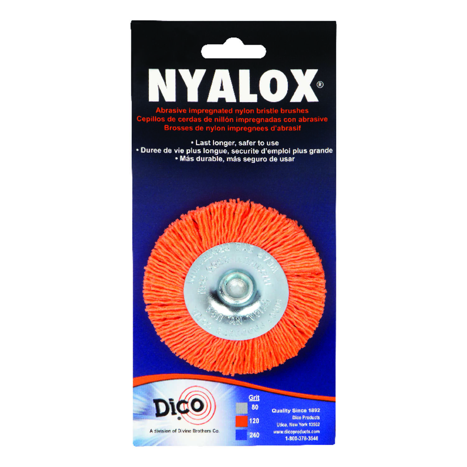 DICO NYALOX  3 in. Twisted  Wheel Brush  Nylon  2500 rpm 1 pk