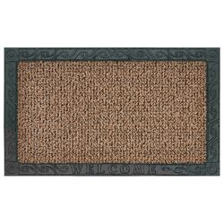 GrassWorx  Filigree Welcome  Jute  AstroTurf  Nonslip Door Mat  18 in. L x 30 in. W
