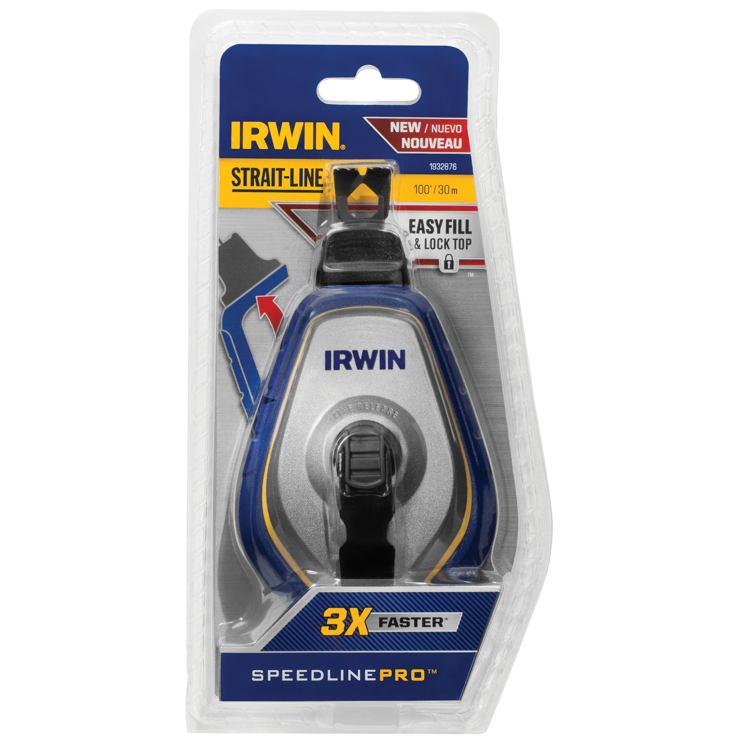 Irwin  Speed-Line Pro  Braided  100 ft. Chalk Line Reel