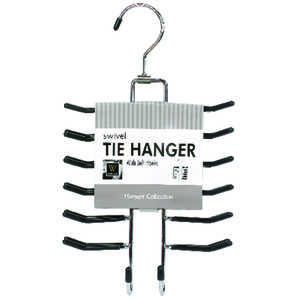 Whitmor  6-1/2 in. H x 11-9/16 in. L x 1-3/16 in. W Chrome  1  Sliding Tie Rack