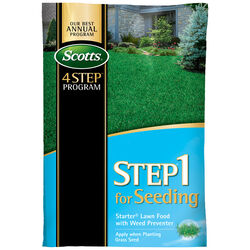 Scotts  Step 1 For Seeding  21-22-4  Starter Lawn Food with Weed Preventer  For All Grass Types 21.6