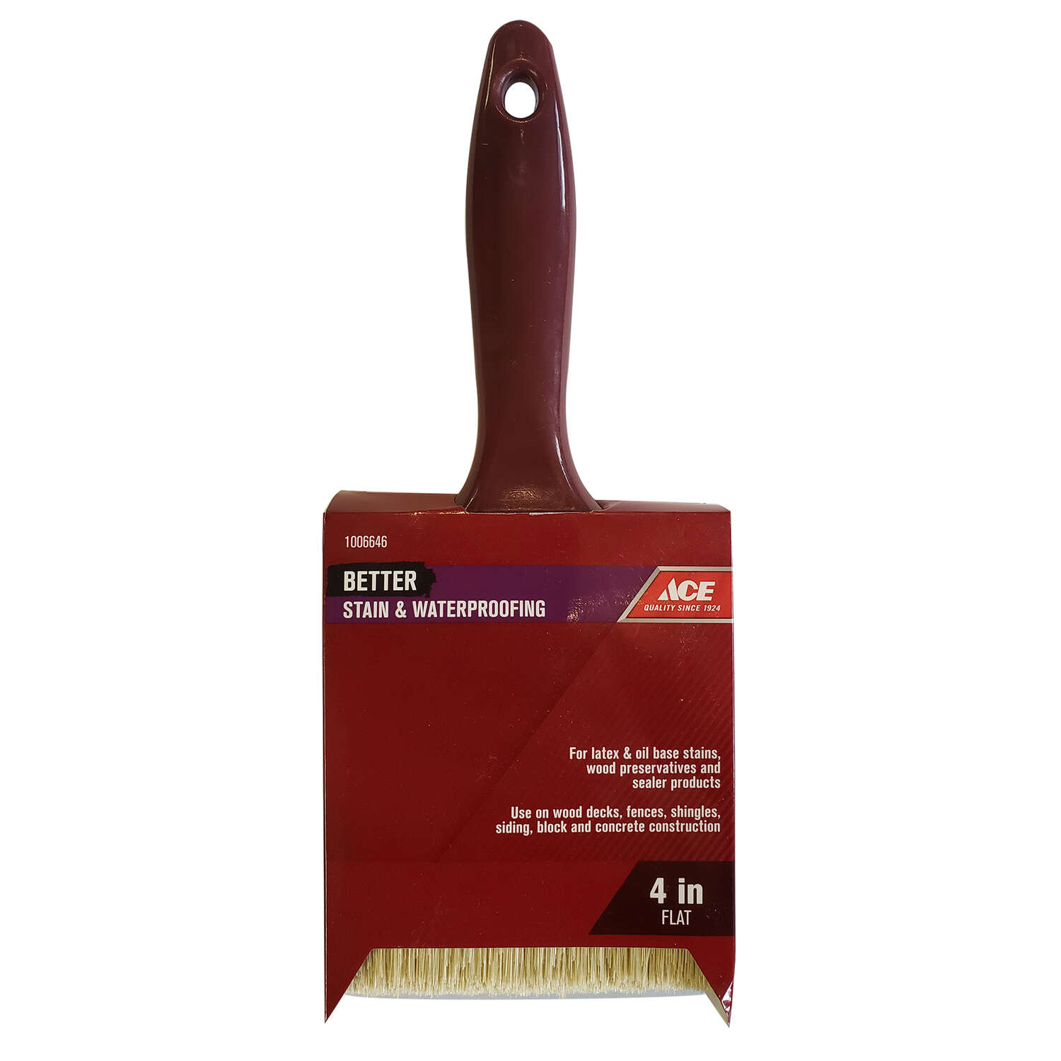 Ace  Better  4 in. W Flat  Stain Brush