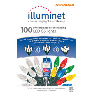 Sylvania  Illuminet  LED C6  Light Set  Color Changing  24.75 ft. 100 lights