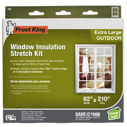 Frost King Clear Stretch Outdoor Window Film Insulator Kit 62 in. W x 210 in. L