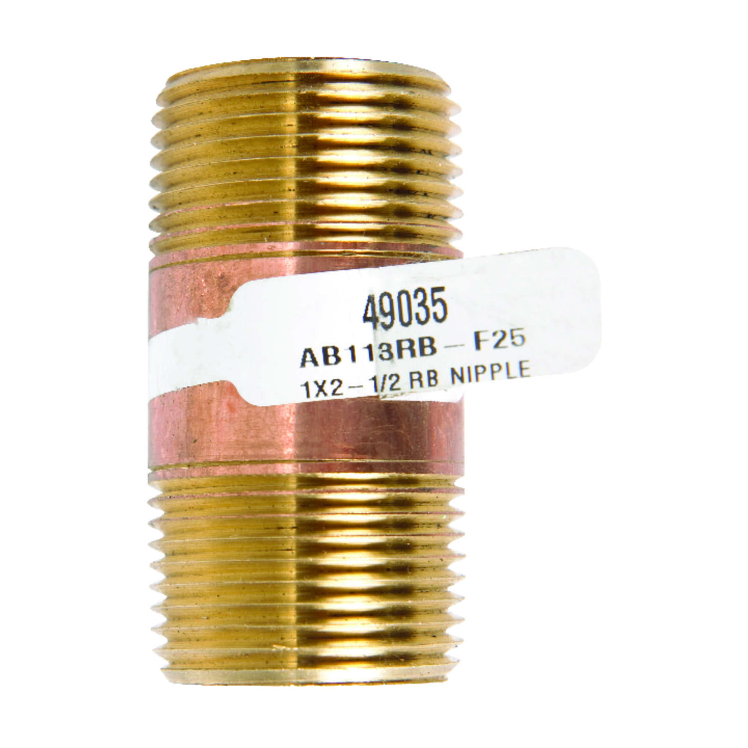 JMF  1 in. MPT   x 2-1/2 in. L Red Brass  Nipple