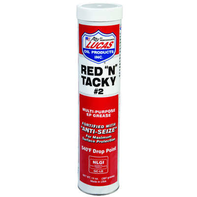 Lucas Oil  Red N Tacky  Red Lithium  Grease  14 oz. Cartridge
