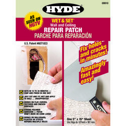 Hyde 0.8 ft. L x 5 in. W Composite White Wet & Set Wall and Ceiling Repair Patch