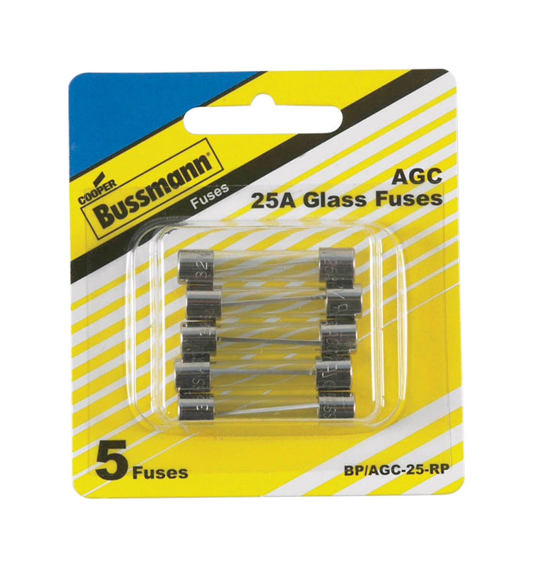 Bussmann  25 amps AGC  Mini Automotive Fuse  5 pk