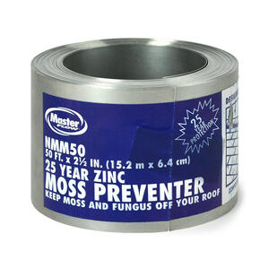 Master Flow  2.67 in. W x 600 in. L Zinc  Roof Flashing  Silver