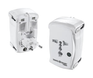 Travel Smart  Type A,  Type B,  Type C, Type E,  Type F,  Type G  For Worldwide Adapter Plug In