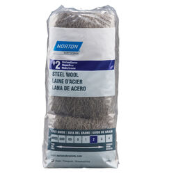 Norton  2 Grade Medium/Coarse  Steel Wool Pad  12 pk