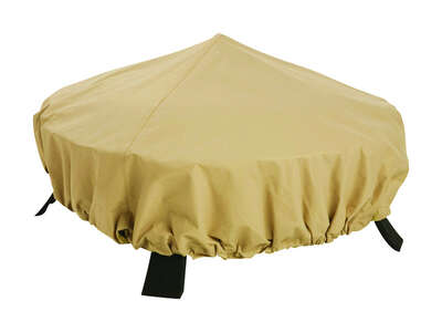 Classic Accessories  44 in. W Sand  Polyester  Fire Pit Cover