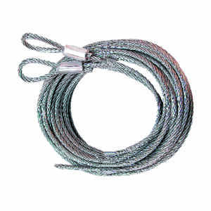 Prime-Line  5.75 in. W x 12 in. L x 1/8 in. Dia. Carbon Steel  Extension Cables