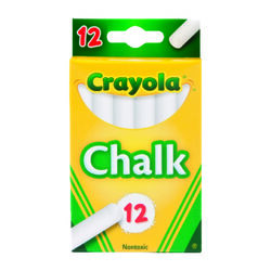 Crayola  White  Chalk  12 pk