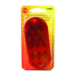 Peterson  Red  Oblong  Reflector  1 pk