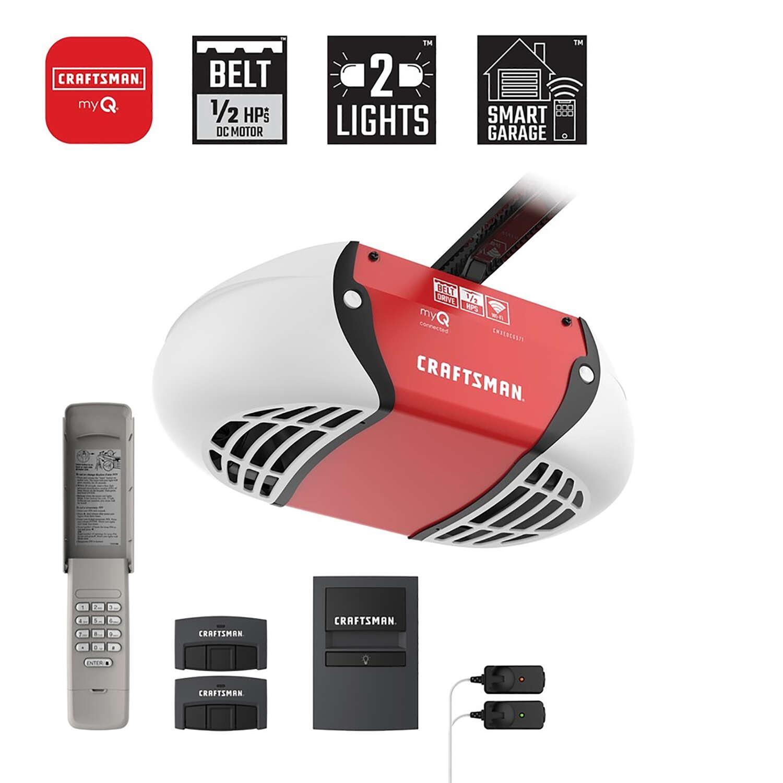 Craftsman 1 2 Hp Belt Drive Wifi Compatible Smart Garage Door Opener Ace Hardware